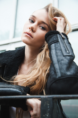 immy waterhouse editorial natural east london leather jacket